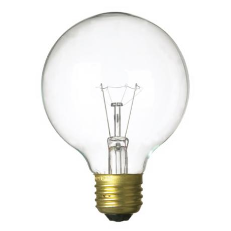 60-Watts G-25 Clear Light Bulb