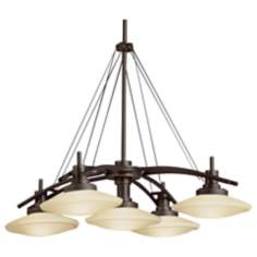"Structures Bronze 30 1/2"" Wide 5-Light Chandelier"