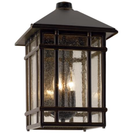 "J du J Sierra Craftsman 15"" High Outdoor Wall Light"