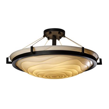 "Porcelina Wave Bronze 26 1/2"" Wide Ceiling Light Fixture"