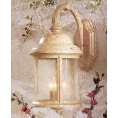 "Parchment 18"" High Outdoor Wall Light"