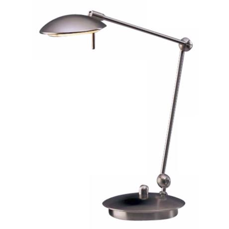Holtkoetter Satin Nickel Adjustable Desk Lamp