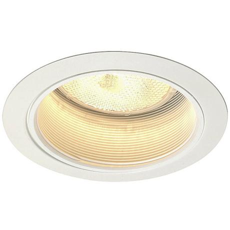 "Juno 5"" Line Voltage White Baffle Recessed Light Trim"