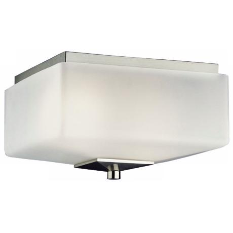 "Forecast Radius Collection 11"" Wide Nickel Ceiling Light"