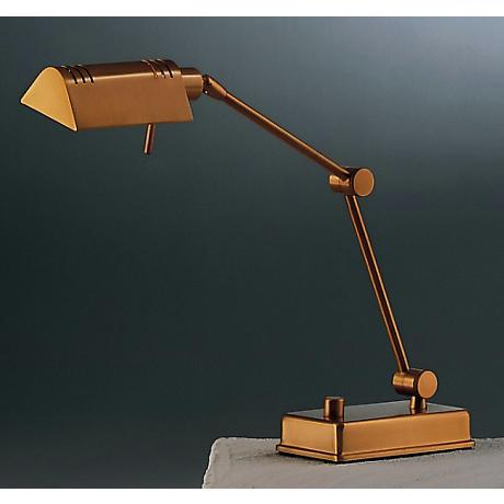 Holtkoetter Halogen Antique Brass Finish Table Lamp