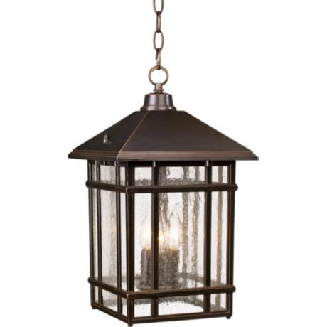 J du J Sierra Craftsman Outdoor Hanging Light
