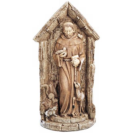 "St. Francis Garden 27"" High Yard Decor Outdoor Statue"