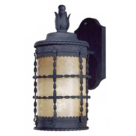 "Mallorca 16"" High Black Outdoor Wall Light"