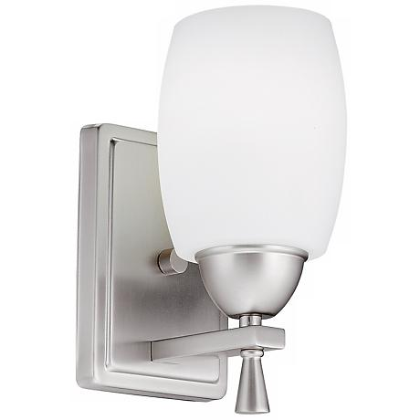 Ferros ENERGY STAR® White Glass Wall Sconce