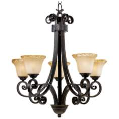 Cordelia Collection Five Light Bronze Chandelier
