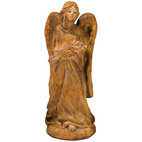 "Henri Studio Cast Stone Large Angel 29 1/2""H Garden Accent"