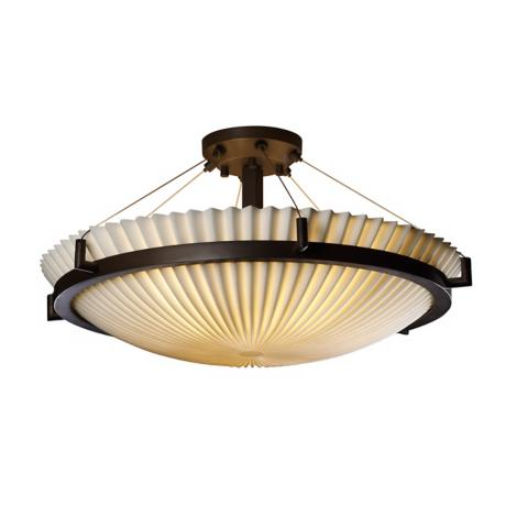 "Porcelina Pleated Bronze 38 3/4"" Wide Ceiling Light Fixture"