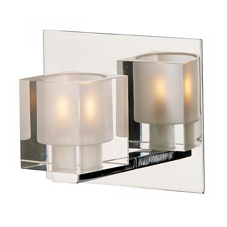 Blocs Collection Glass Chrome One Light Wall Sconce