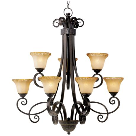 Cordelia Collection Two Tier Bronze Chandelier