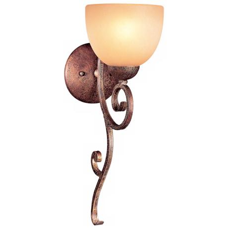 Caspian Collection Golden Bronze Finish Wall Sconce
