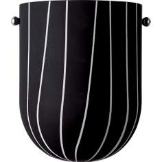 Metro Black and White Pocket Wall Sconce