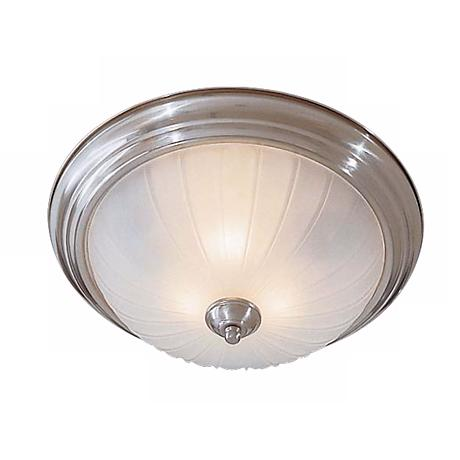 "Melon 15"" Wide Nickel Ceiling Light Fixture"