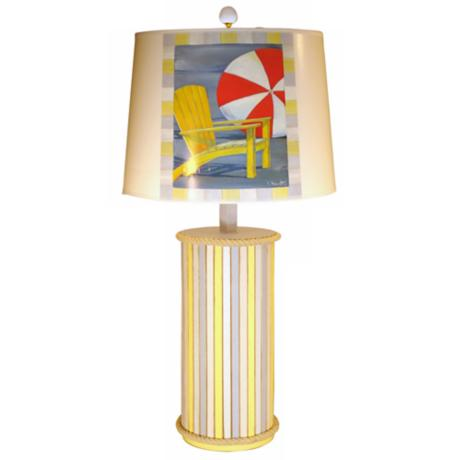 Weathered Beach Stripe Paul Brent Table Lamp