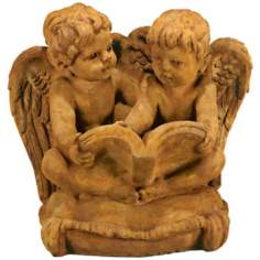 Henri Studios Two Cherubs Reading Garden Accent Sculpture