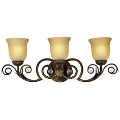 "Kathy Ireland Tres Illuminacion 26 1/2"" Wide Wall Sconce"