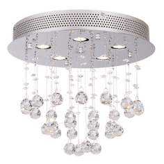 "Vienna Full Spectrum Crystal Ball 15"" Wide Ceiling Fixture"