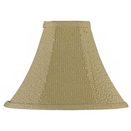 Textured Taupe Bell Lamp Shade 4x11x8.5 (Spider)