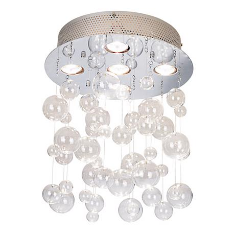 "Possini Euro Bubbles 13 3/4"" Wide Ceiling Light Fixture"