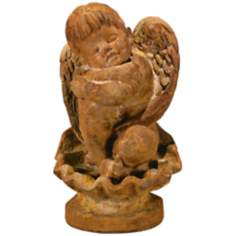 Henri Studios Li'l Angel on Seashell Garden Sculpture