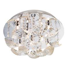 "Vienna Full Spectrum Draped Glass 13 3/4"" Wide Ceiling Light"