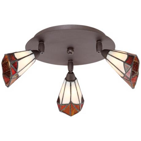 Pro Track® Tiffany Glass 3-Light Adjustable Light Fixture