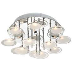 "Possini Discs of Light 17 3/4"" Wide Flushmount Ceiling Light"