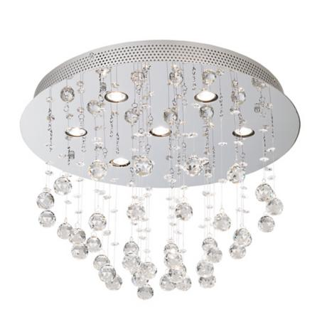 "Vienna Full Spectrum Crystal Ball 19 3/4"" Wide Ceiling Light"