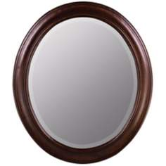 Chelsea Tobacco Birch Wood Oval Mirror