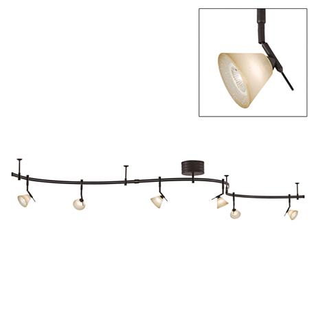 george kovacs bronze 6 light expandable rail track light kit. Black Bedroom Furniture Sets. Home Design Ideas