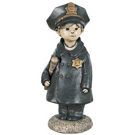 Little Police Officer Garden Accent