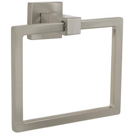 Electra Collection Satin Nickel Towel Ring