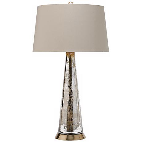 Arteriors Home Antiqued Silver Tapered Glass Table Lamp