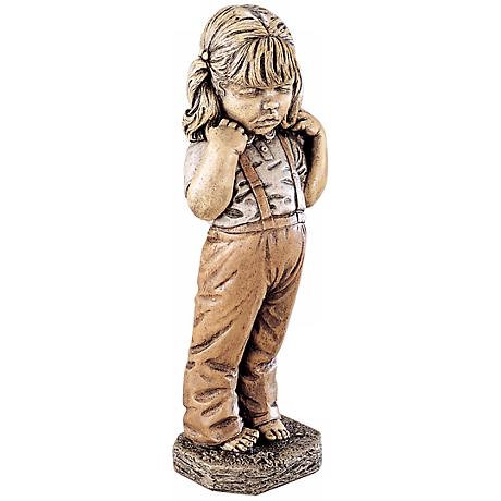"Bashful Little Girl 24"" High Yard Decor Garden Accent"