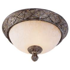 "French Bronze 13"" Wide Flushmount Ceiling Light Fixture"