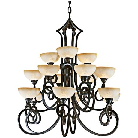 Getalo Collection Fifteen Light Chandelier
