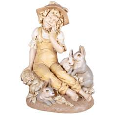 Bonnie N' Bunnies Yard Decor Garden Statue