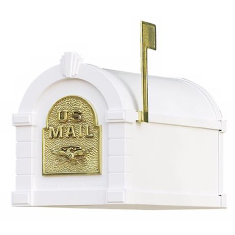 Keystone Series White Finish Mailbox
