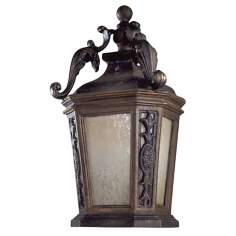 "Buckingham 19"" High Prussian Gold Outdoor Wall Light"