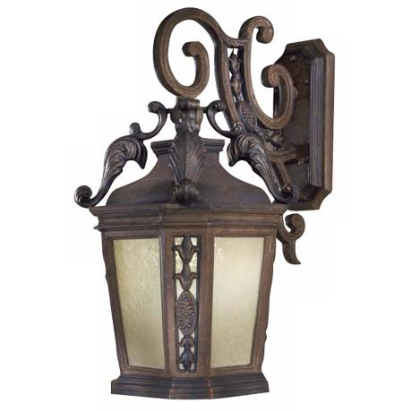 "Buckingham 27 3/4"" High Prussian Gold Outdoor Wall Light"