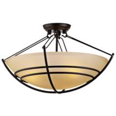 "Forecast Kellar Forge Collection 21"" Bronze Ceiling Light"