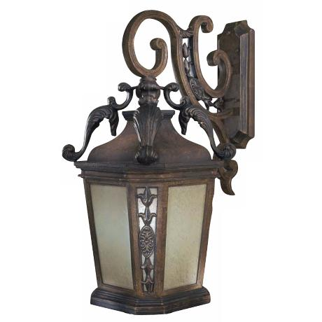 "Buckingham 32 1/2"" High Prussian Gold Outdoor Wall Light"