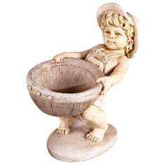 Petite Boy Garden Accent Planter