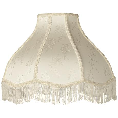 Cream Scallop Dome Lamp Shade 6x17x12x11 Spider