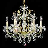 "Schonbek Century Collection 21"" Wide Crystal Chandelier"