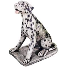 Cast Stone Dalmatian Dog Sculpture Garden Accent